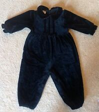 EUC Class Club Baby Black Velour LongAll 18 Months Worn Once for Photo Shoot
