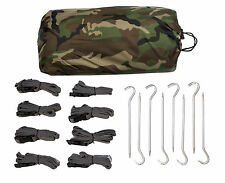 Aqua Quest Defender Tarp Kit - 100% Waterproof 4 x 3 m Tarp, 8 Straps, 8 Pegs