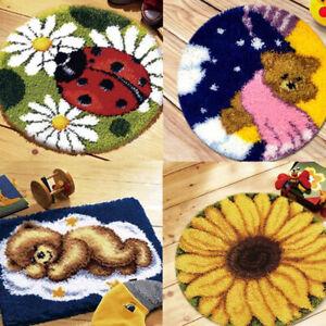 1 Set Latch Hook Embroidery Kits Cushion Needlework Latchhook DIY Craft Need BOD