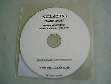 WILL JOHNS Last Page promo CD single