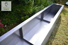 Extra Large Raised Modern Planters / Troughs / Water Feature | Stainless Steel