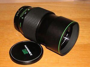 Hanimex MC 200mm 1:3.3 Fast Lens - Both End Caps - Pentax K - Good Condition