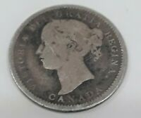 1901 Canada Canadian Silver Dime 10 Cents Queen Victoria Coin Silver 119 yrs old