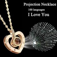 Projection 100 Languages I Love You Charm Pendant Necklace Gift Women UK D1G3