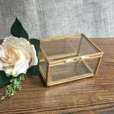 GeometrischesGlas Terrarium Box Schmuckschatulle Pflanzgefäß Deko Kupfer