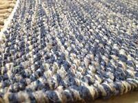 Premium Quality Denim Blue Heavy Rugs Reversible Cotton Medium Very Large rugs