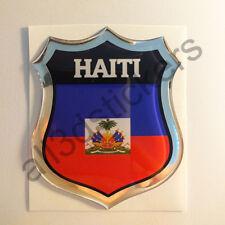 Sticker Haiti Emblem 3D Resin Domed Gel Haiti Flag Vinyl Decal Car Laptop