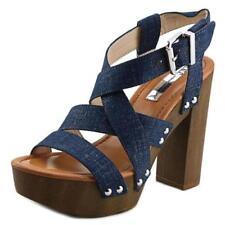 Sandalias y chanclas de mujer de tacón alto (más que 7,5 cm) de color principal azul Talla 37