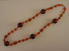 """various Brown tones 22""""L #Bn2 Bead Necklace Rustic, Amber and"""