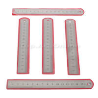 """5Pcs 6"""" Stainless Steel Double Side Machinist Measuring Ruler Scale Precision"""
