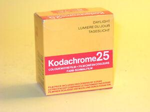 Kodachrome 25 - vintage unexposed 8mm movie film - 25ft (7.5m) KM459P