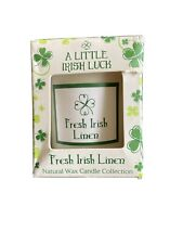 Essense of Ireland Fresh Linen Scented Candle Soy