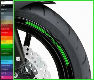 8 x VERSYS Wheel Rim Decals Stickers - 20 colors available - 650 1000 kle klz