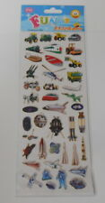 FUN STICKERS-TRANSPORT EMBELLISHMENT STICKERS FOR CARDS AND CRAFTS
