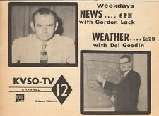 1957 KVSO TV AD~GORDON LACK~DEL GOODIN WEATHER MAN~ARDMORE OKLAHOMA NEWS CH 12