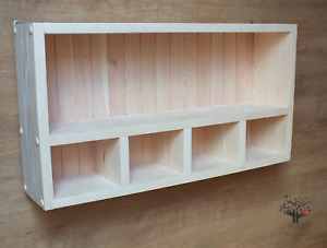 s28 Solid Pine Shelving Unit | Timber Shelf | 5 Open Compartments Hanging Unit