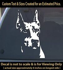 doberman pinscher 6 inch vinyl decal 1a pet lover dog 4your car laptop home more