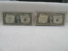 """1935 A $1 SILVER CERTIFICATES SURCHARGE NOTES (""""R & S"""") F-1609 & F-1610"""