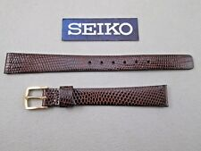 Genuine Seiko 11mm lady's dark brown genuine lizard watch band strap Canada