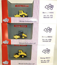 3 x Bomag rullo GIALLO NZG 475 4752 4753 metallo collection 1:87 conf. orig. µ