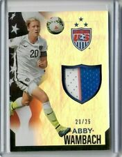 Abby Wambach 2015 Panini Soccer Us National Team Gold Jersey Patch #/25 Usa 1/1