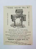 1885 New Haven Connecticut Advertisement Wheeler & Wilson Sewing Machine Gesner