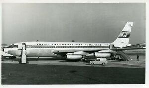 EI-ALC Boeing B720 Aer Lingus B&W photo Gatwick 1963
