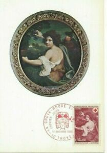 Card Postal CEF 1er Day France Cross Red 1968