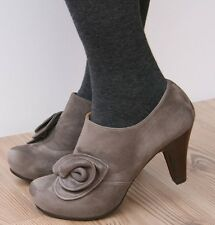 CHIE MIHARA SHOES CAROSA BOOTIES GRAY SUEDE HIDDEN PLATFORM ANKLE BOOTS $448 9