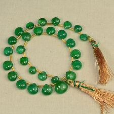 Fine Zambian EMERALD Plain Heart Beads 9.2 inch Strand