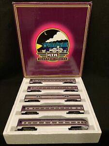 Mth Atlantic Coast Line 70' Scale Aluminum 5 Car Passenger Set