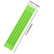 4 Lines 28 Cells Braille Writing Slate Board Plastic Accessories With Stylus