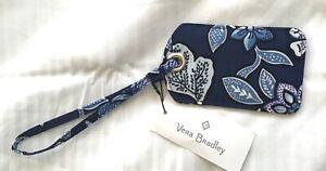 Vera Bradley Tropics Tapestry Luggage Tag -floral- blues white