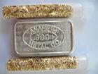 1 OZ  ANAHEIM LOGO ON FRONT  999 PURE SILVER 1981 USVI  A MARK CHUNKY INGOT GOLD