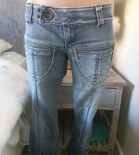 miss sixty jeans size 24 croped designer jeans denim blue pants
