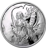 Amy Brown Collection 1oz Dragon Secrets .999 Fine Silver Proof Round COA