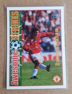 David Beckham Futera Awesome Strikes Football Card (Pack Fresh)