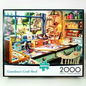 """NEW Buffalo Games """"Grandma's Craft Shed"""" 2000 Piece Jigsaw Puzzle Poster Pc SEAL"""