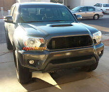 For 2012-2013 Toyota Tacoma Combo 2PC Replacement Black Billet Grille Grill