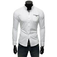 Camisas y polos de hombre de manga larga en blanco talla XL
