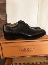 Barker Men's Burford Leather Oxford Lace Up Shoes Size 8G - Black