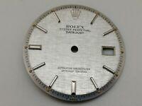 ROLEX VINTAGE 1601 DATEJUST WATCH SILVER LINEN DIAL 28 MM (MINT & ORIGINAL)
