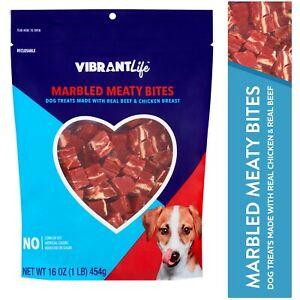 Vibrant Life Marbled Meaty Bites Dog Treats 16 oz
