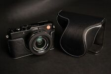 Genuine real Leather Full Camera Case bag Cover for Leica D-LUX Typ 109 Black