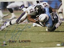 Ray Lewis Sacking Steve Mcnair Autograph 16 X 20 Photo BLUE Ink JSA Authentic