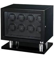w/ Lcd Controls Lock & Key 31-560080 Volta 8 Watch Winder Carbon Fiber Finish