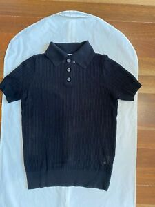 Viktoria & Woods double knit polo, black, excellent cond., size 1. Made in Aus
