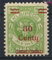 Memelgebiet 226 postfrisch 1923 Aushilfsausgabe (9222662