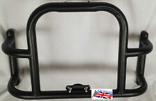 UNIVERSAL ROYAL ENFIELD SOLID AIRFLY STYLE  BLACK FRONT CRASH BAR LEG GUARD