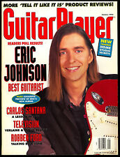 1993 January Guitar Player magazine Eric Johnson Carlos Santana Robben Ford